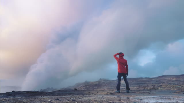 hiking iceland cinemagraph - home away from home - geyser stock videos and b-roll footage