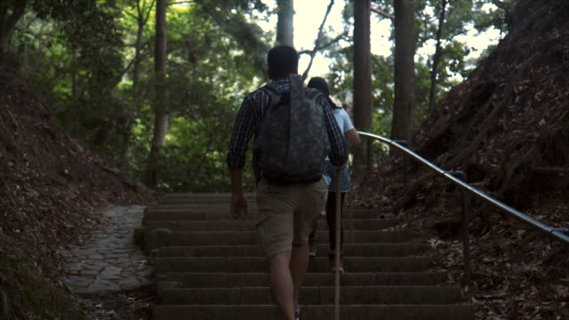hiking in kyoto (slow motion) - lypsekyo16 stock videos and b-roll footage