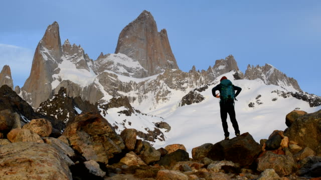 hiking in patagonia - argentina stock videos & royalty-free footage