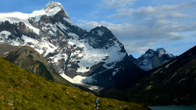 hiking in stunning torres del paine, patagonia - patagonia chile stock videos and b-roll footage