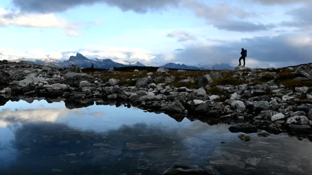hiking in the mountains - awe stock videos & royalty-free footage
