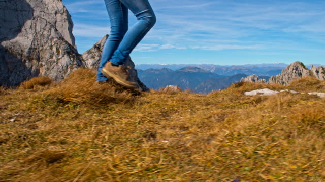 ms hiking in the mountains - triglav national park stock videos and b-roll footage