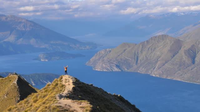 hiking mountain - mountain ridge stock videos & royalty-free footage