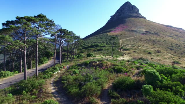 hiking the lion's head - cape town stock videos & royalty-free footage