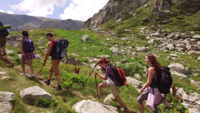 hiking - mountain climbing gear stock videos and b-roll footage