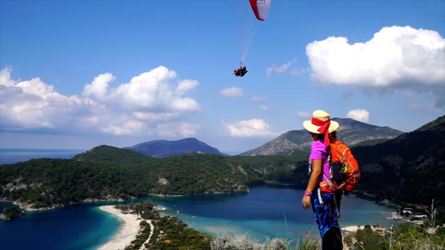 hiking - oludeniz stock videos and b-roll footage