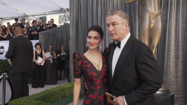 hilaria baldwin alec baldwin at the 25th annual screen actors guild awards social ready content at the shrine auditorium on january 27 2019 in los... - alec baldwin stock videos & royalty-free footage
