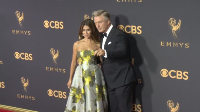 hilaria baldwin alec baldwin at the 69th annual primetime emmy awards at microsoft theater on september 17 2017 in los angeles california - alec baldwin stock videos & royalty-free footage