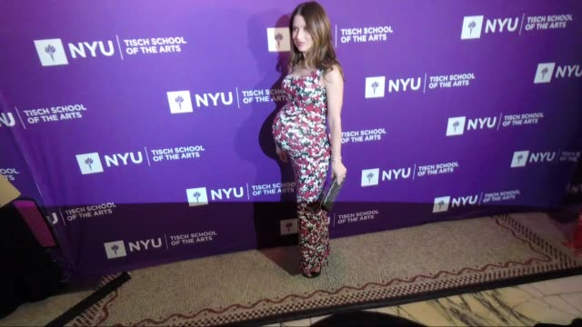 hilaria baldwin at the new york university tisch school of the arts 2018 gala at capitale on april 16 2018 in new york city - new york university stock videos & royalty-free footage