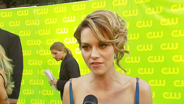 hilarie burton on the new season of 'one tree hill' if she watches the show when it airs what she would be if not an actor and what she's wearing at... - one tree hill stock videos and b-roll footage