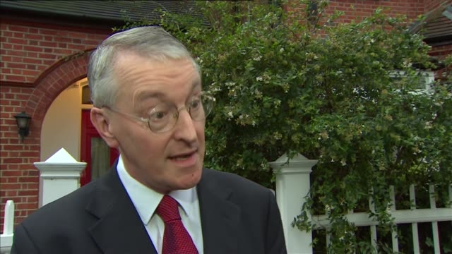 london ext hilary benn mp interview sot re divisions in labour party on decision to launch syria airstrikes jeremy corbyn allowing a free vote - hilary benn stock-videos und b-roll-filmmaterial