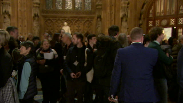 hilary benn labour in parliament lobby after brexit deal vote - defeat stock videos & royalty-free footage