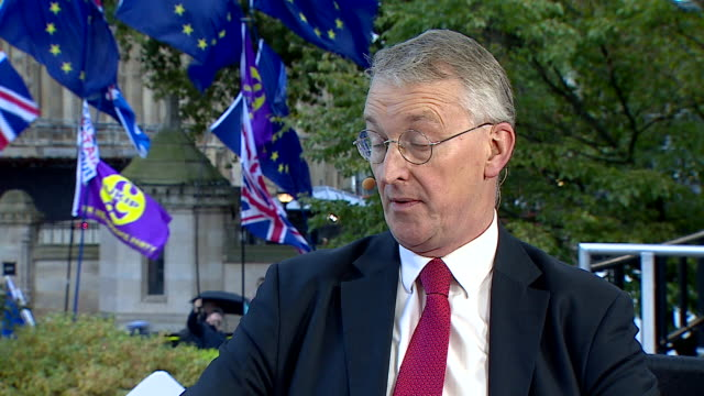 hilary benn talking about possible amendments to the brexit deal - hilary benn stock-videos und b-roll-filmmaterial