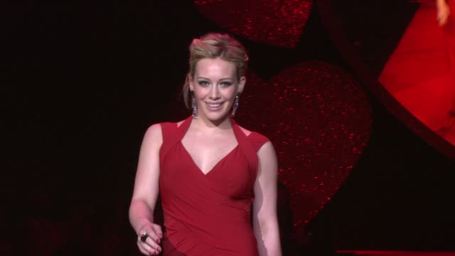 Hilary Duff and Katie Couric at the MercedesBenz Fashion Week Fall 2009 The Heart Truth's Red Dress Collection Runway at New York NY