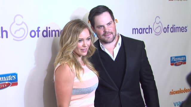 Hilary Duff and Mike Comrie arrive at 7th Annual March of Dimes Celebration of Babies on in Beverly Hills CA