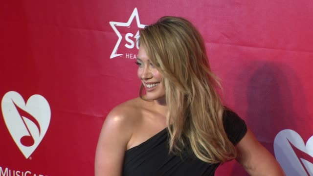 hilary duff at 2014 musicares person of the year honoring carole king at los angeles convention center on in los angeles california - musicares foundation stock videos & royalty-free footage