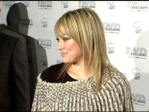 Hilary Duff at the DVD Exclusive Awards at California Science Center in Los Angeles California on February 8 2005