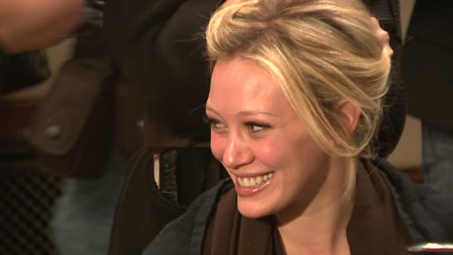 Hilary Duff at the MercedesBenz Fashion Week Fall 2009 Heart Truth's Red Dress Collection Backstage at New York NY