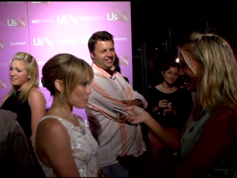hilary duff interviewed by the press at the us weekly's young hollywood hot 20 at lax in hollywood, california on september 17, 2005. - us weekly stock videos & royalty-free footage