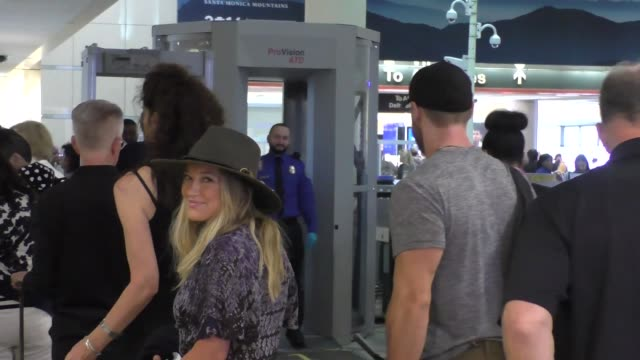 Hilary Duff Jason Walsh departing at LAX Airport in Los Angeles in Celebrity Sightings in Los Angeles