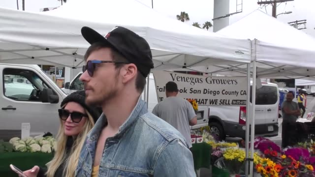 Hilary Duff Matthew Koma shopping at the Farmers Market in Studio City in Celebrity Sightings in Los Angeles