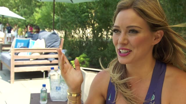 INTERVIEW Hilary Duff on being at The Estate on of summertime in the Hamptons describes her perfect summer day on her summer fitness regime on her...