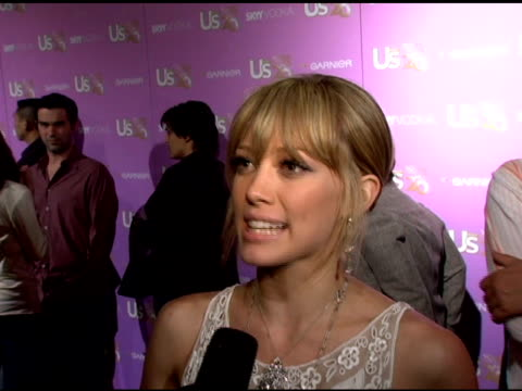"hilary duff on being on the us weekly hot 20list her upcoming tour and film ""materials girls"" and ""cheaper by the dozen ii"" and on her emmy weekend... - dozen stock videos & royalty-free footage"