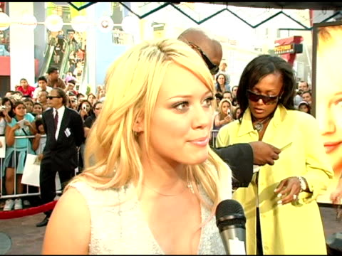 Hilary Duff on her fans and seeing her own movie at the 'Raise Your Voice' Premiere on October 3 2004