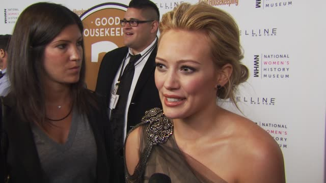 Hilary Duff on supporting women and coming out to celebrate inspiring women at the Good Housekeeping's 'Shine On' 125 Years of Women Making Their...