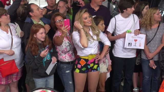 Hilary Duff on the set of the 'Good Morning America' show in Celebrity Sightings in New York