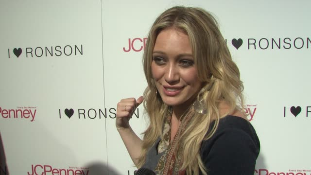 Hilary Duff on what brings her out tonight On what she likes about Charlotte Ronson's style On shopping during a recession and on Charlotte Ronson...
