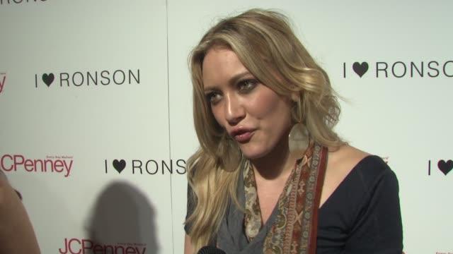 Hilary Duff on what brings her out tonight that she's a fan of Charlotte Ronson On Charlotte Ronson making a cool collection for an affordable price...