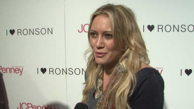 Hilary Duff on what she likes about Charlotte Ronson's style On shopping during a recession and on Charlotte Ronson making a cool collection for an...