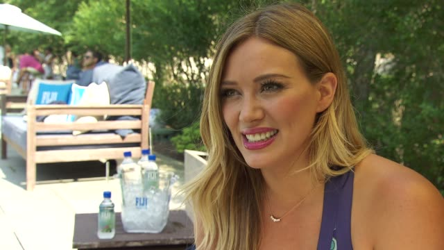 INTERVIEW Hilary Duff talks about her current movie on focusing on her music and connecting with fans at FIJI Water Days Of Summer Hosted By Hilary...