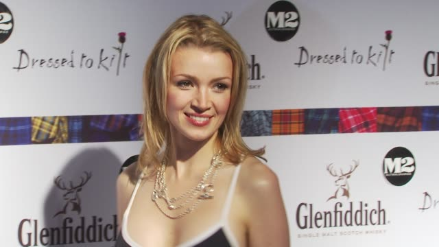 hilary rowland at the 8th annual 'dressed to kilt' charity fashion show at new york ny - dressed to kilt stock videos & royalty-free footage