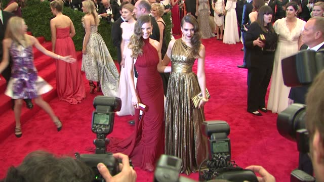hilary swank and jessica alba at schiaparelli and prada impossible conversations costume institute gala on 5/07/2012 in new york ny united states - hilary swank stock videos & royalty-free footage