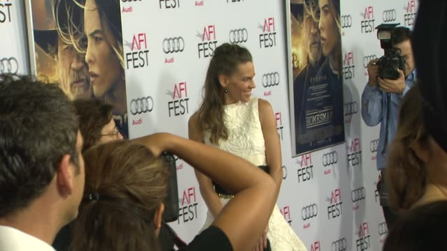 hilary swank at afi fest 2014 presented by audi the homesman premiere at dolby theatre on november 11 2014 in hollywood california - hilary swank stock videos & royalty-free footage
