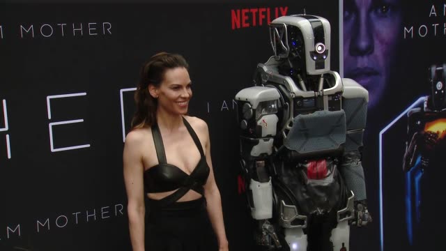 "hilary swank at special screening of netflix's ""i am mother"" at arclight hollywood on june 06, 2019 in hollywood, california. - hilary swank stock videos & royalty-free footage"