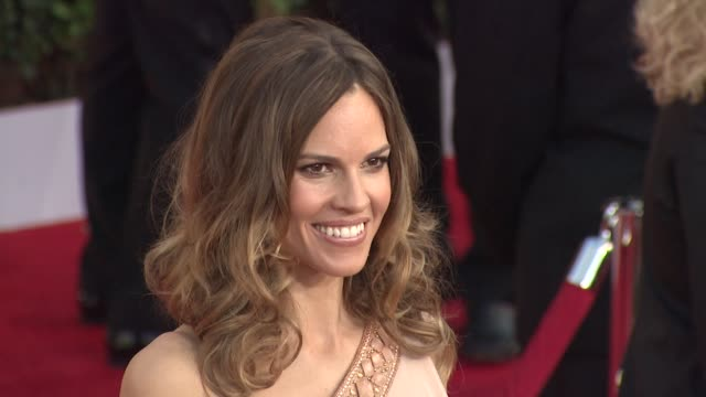hilary swank at the 17th annual screen actors guild awards - arrivals part 2 at los angeles ca. - hilary swank stock videos & royalty-free footage