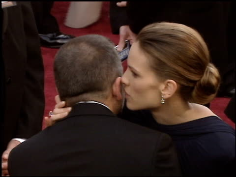 hilary swank at the 2005 academy awards at the kodak theatre in hollywood, california on february 27, 2005. - hilary swank stock videos & royalty-free footage