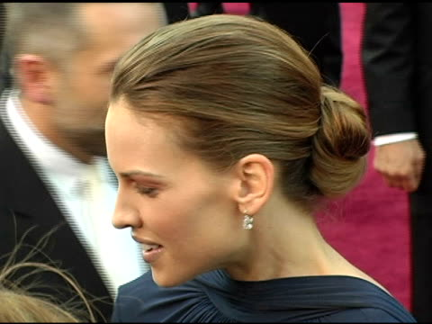 hilary swank at the 2005 annual academy awards arrivals at the kodak theatre in hollywood, california on february 28, 2005. - hilary swank stock videos & royalty-free footage