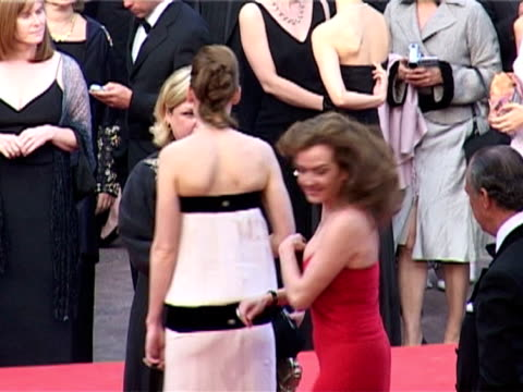 hilary swank at the 2005 cannes film festival - closing ceremony and 'chromophobia' screening at cannes . - hilary swank stock videos & royalty-free footage