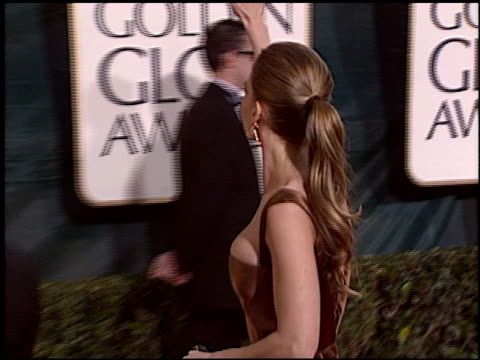 hilary swank at the 2005 golden globe awards at the beverly hilton in beverly hills, california on january 16, 2005. - hilary swank stock videos & royalty-free footage