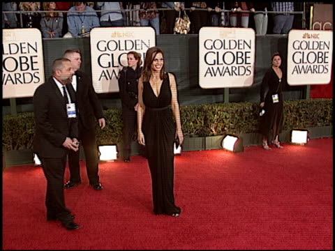 hilary swank at the 2006 golden globe awards at the beverly hilton in beverly hills california on january 16 2006 - hilary swank stock videos & royalty-free footage