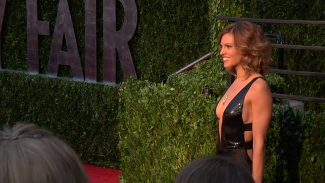 hilary swank at the 2010 vanity fair oscar party hosted by graydon carter at west hollywood ca - hilary swank stock videos & royalty-free footage