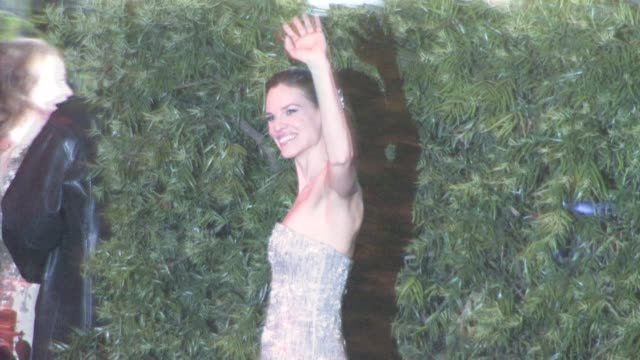 hilary swank at the 2011 vanity fair oscar party at sunset tower in west hollywood at the celebrity sightings in los angeles at los angeles ca. - hilary swank stock videos & royalty-free footage