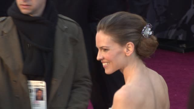 hilary swank at the 83rd annual academy awards - arrivals part 2 at hollywood ca. - hilary swank stock videos & royalty-free footage