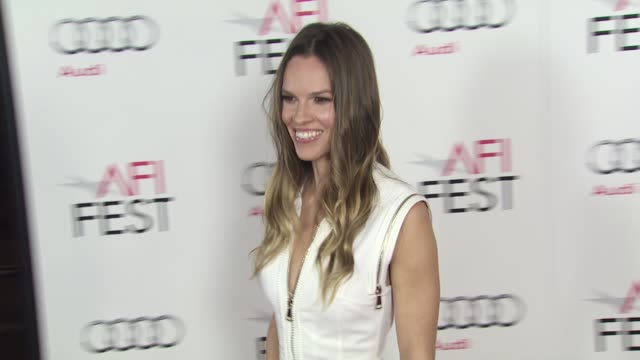 hilary swank at the afi fest 2011 opening night gala world premiere of 'j edgar' at hollywood ca - hilary swank video stock e b–roll
