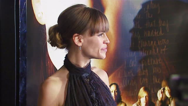 hilary swank at the 'freedom writers' los angeles premiere at the mann village theatre in westwood california on january 4 2007 - hilary swank stock videos & royalty-free footage