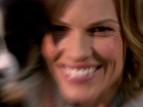 hilary swank at the hilary swank and iams home 4 the holidays raise awareness for pet adoption at new york ny. - hilary swank stock videos & royalty-free footage